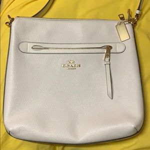 Coach white crossbody